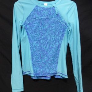 ivivva, long sleeve exercise shirt with thumbholes